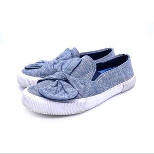NAUTICAL Conaway Knot Chambray Slip On Sneakers